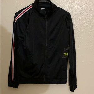 Athletic track jacket black
